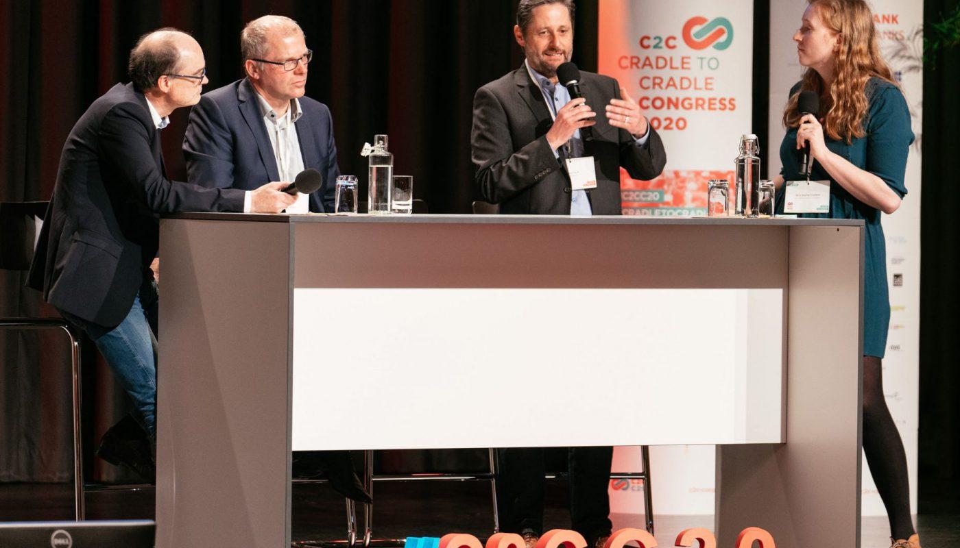 Dr. Lars Hancke, Heiner Klokkers, Bernd Groh (beide hubergroup) + Nora Sophie Griefahn (C2C NGO)