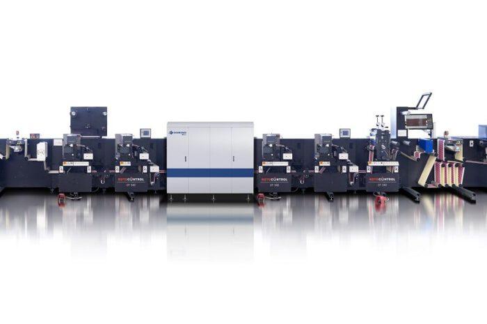 Drucken und Veredeln von Hybridetiketten